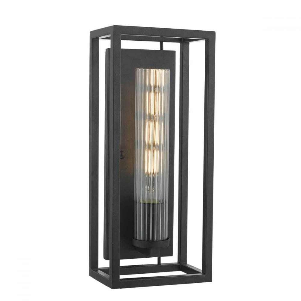 Dar FEL0722 Felipe 1 Light Wall Light Black