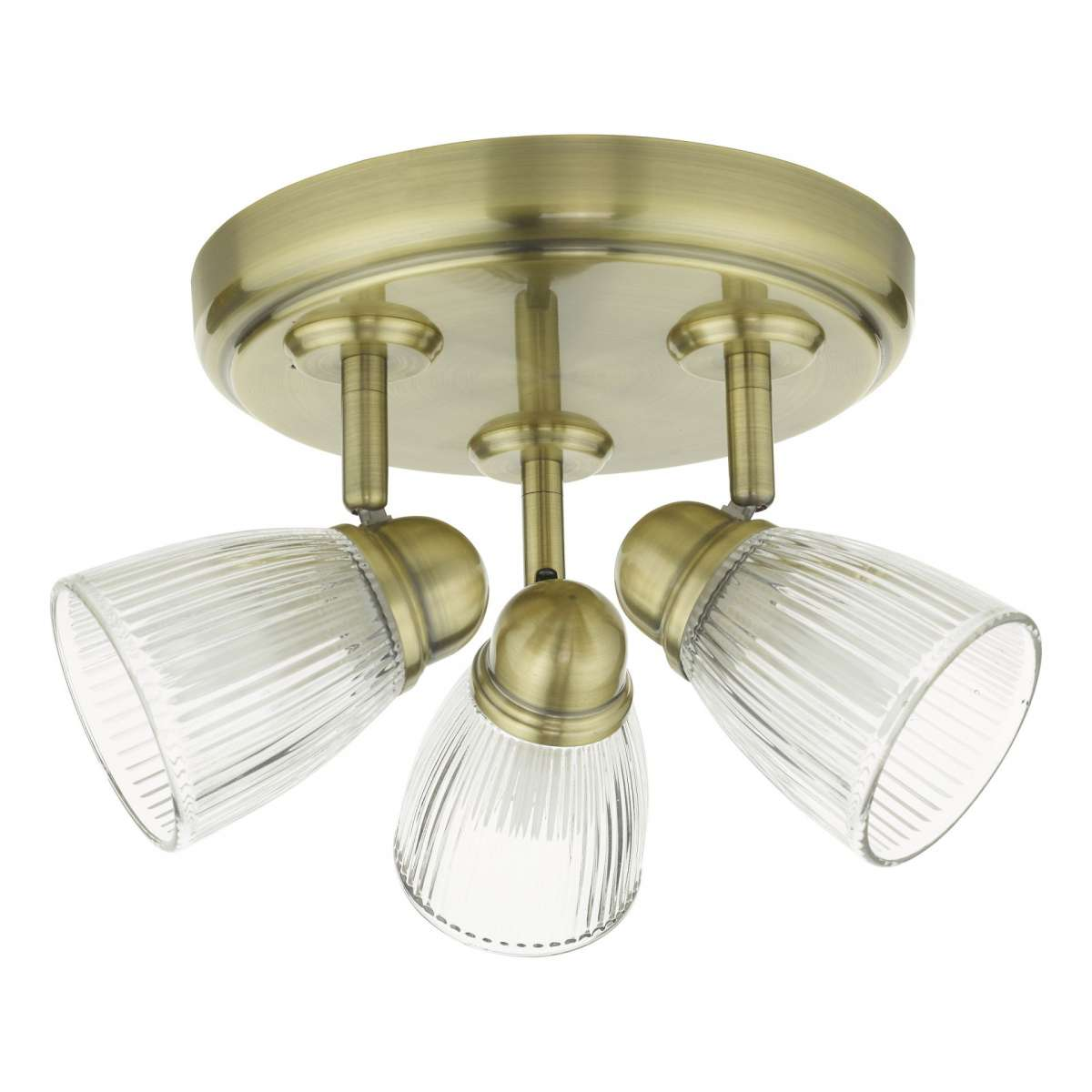 Dar Lighting CED7675 Cedric 3 Light Spotlight Antique Brass