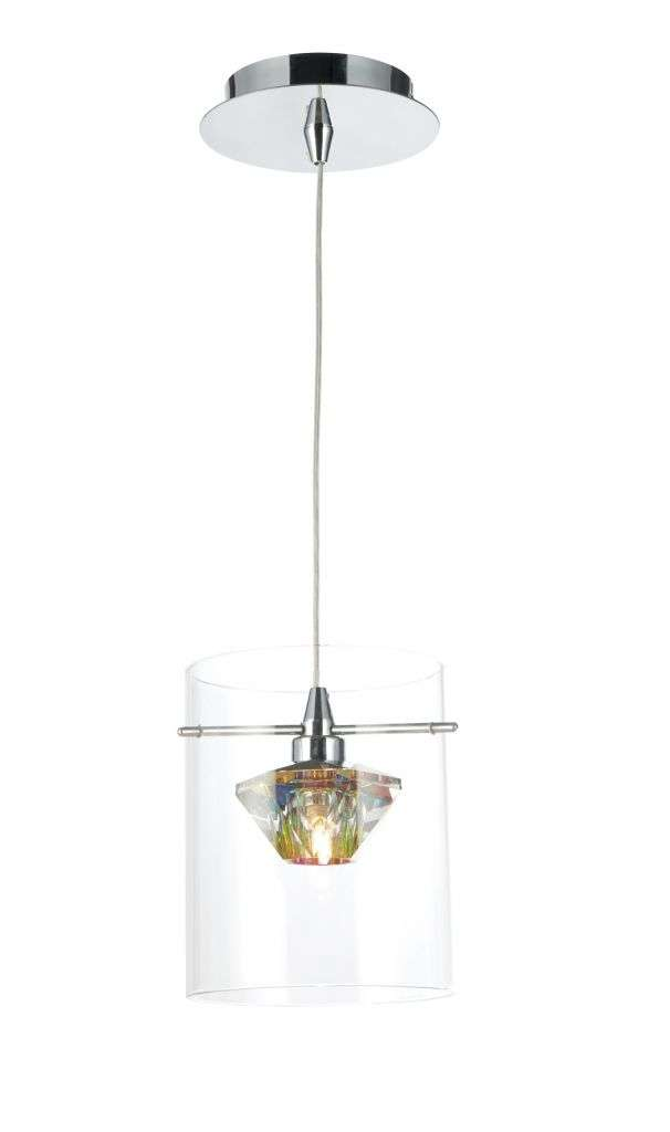 Decade 1-Light Polished Chrome Pendant