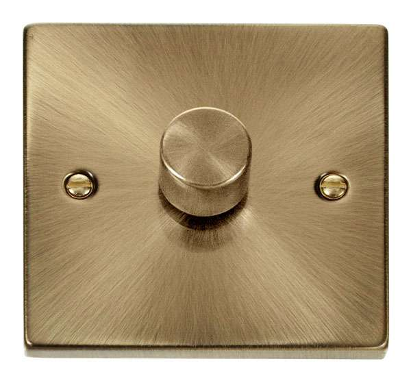 Deco 1Gang 2way Antique Brass Dimmer Switch