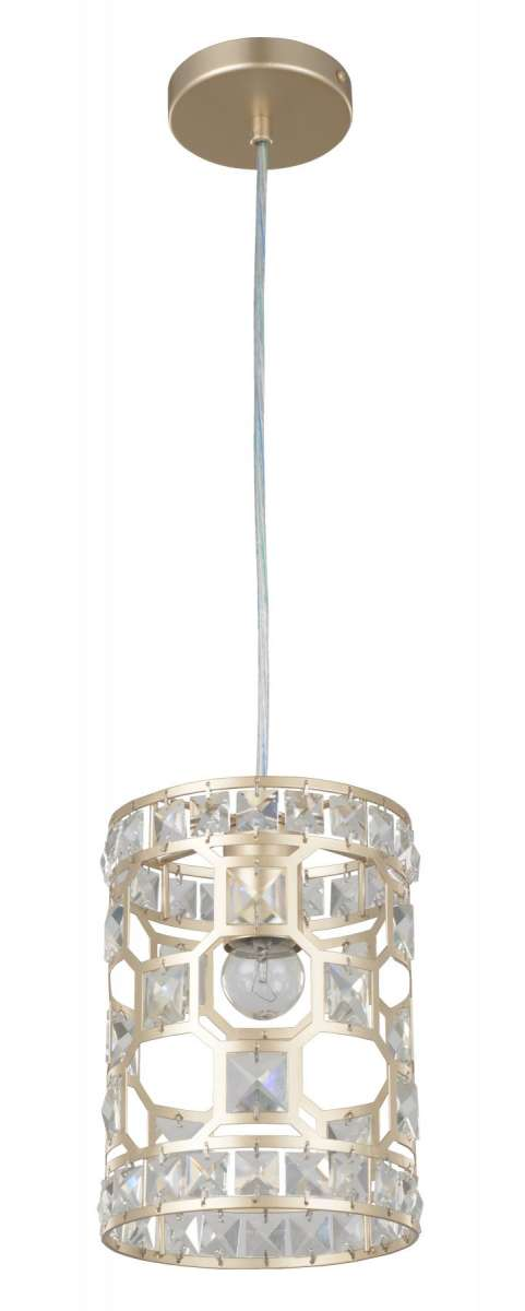 Diana 1 Light Crystal Pendant Champagne Gold