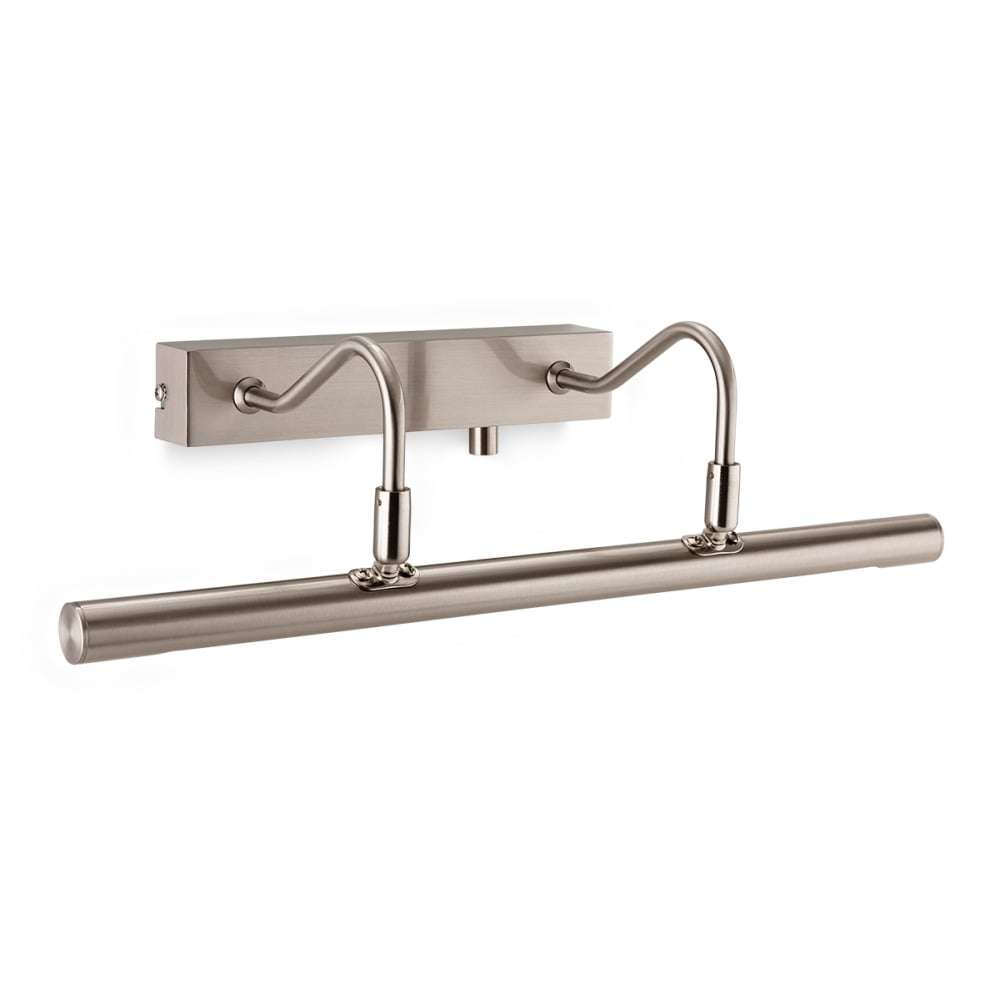 Dimmable LED Picture Light in Brushed Steel