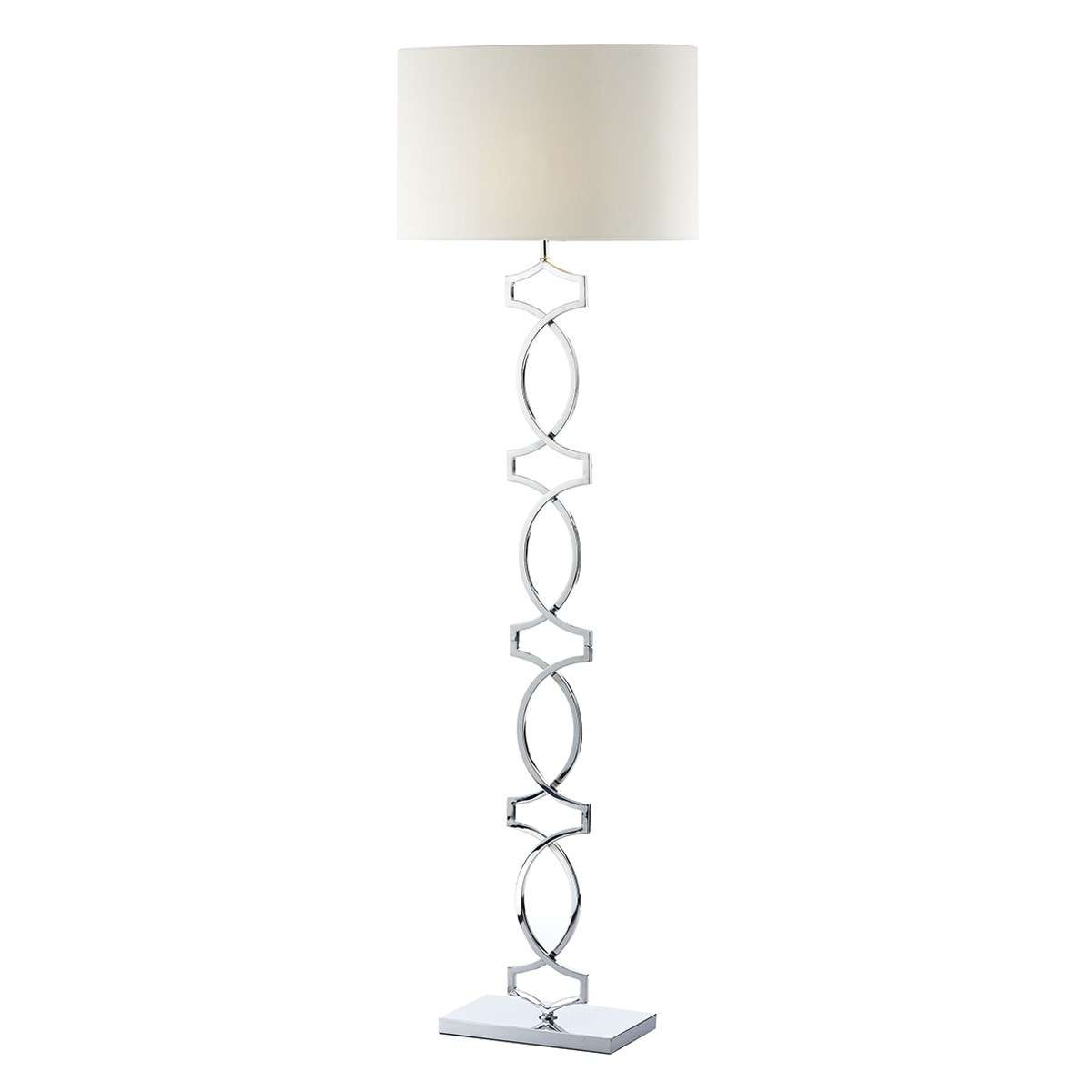 Donovan Floor Lamp Polished Chrome complete with Shade