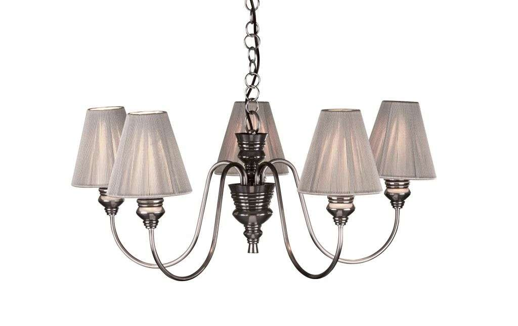 Doreen 5-Light Pewter Fitting With Shades