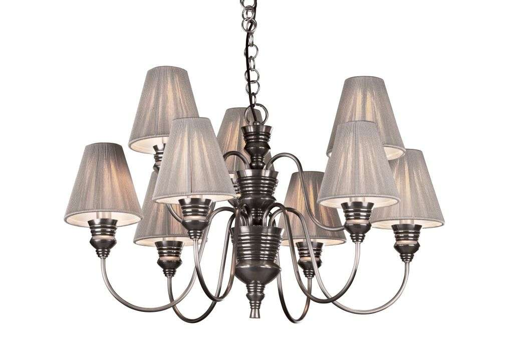 Doreen 9-Light Pewter Fitting With Shades