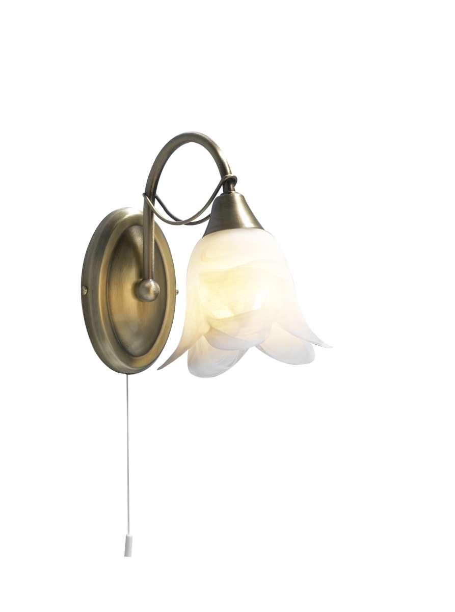 Doublet 1-Light Antique Brass Wall Bracket