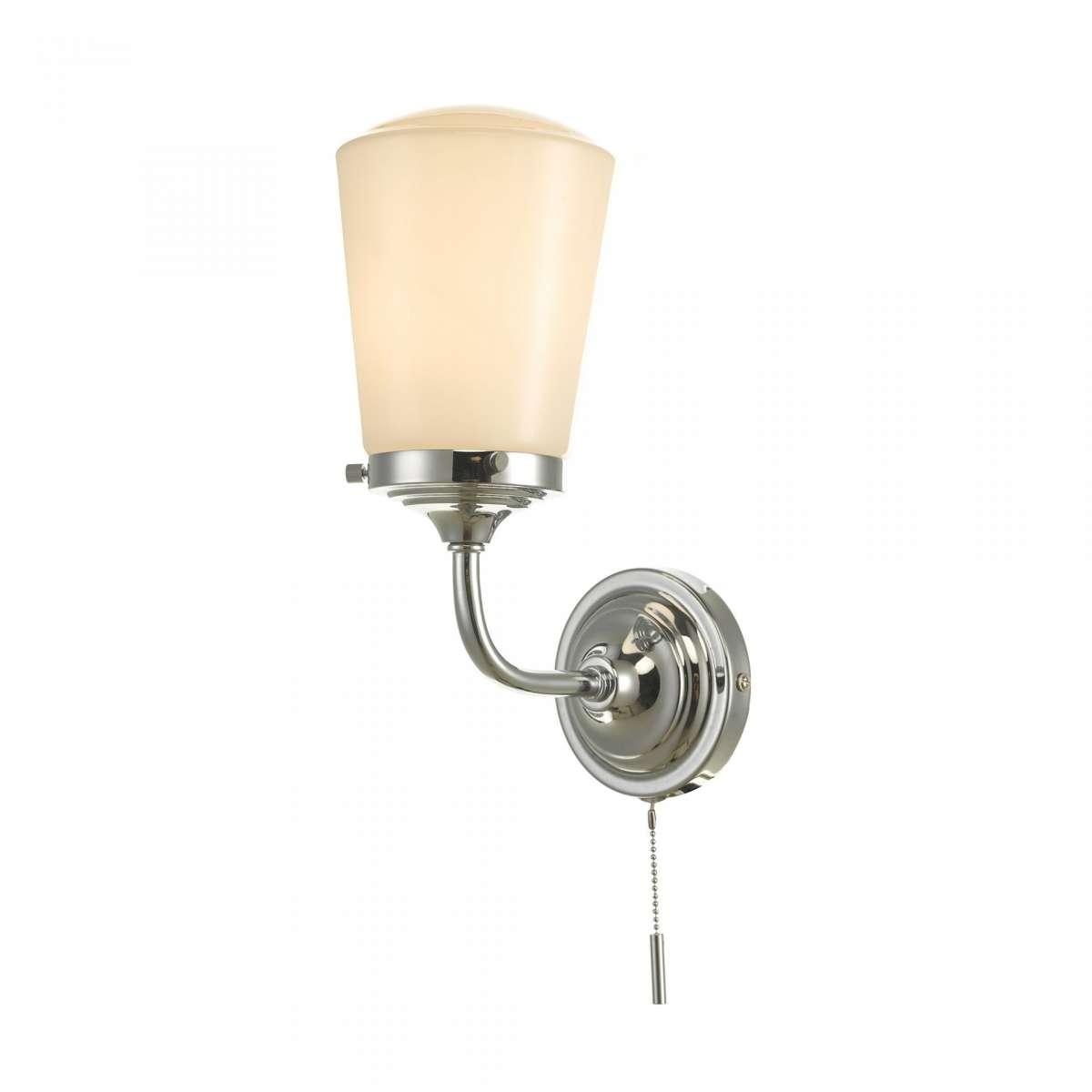där lighting CAD0750 Caden Bathroom Wall Light Polished Chrome