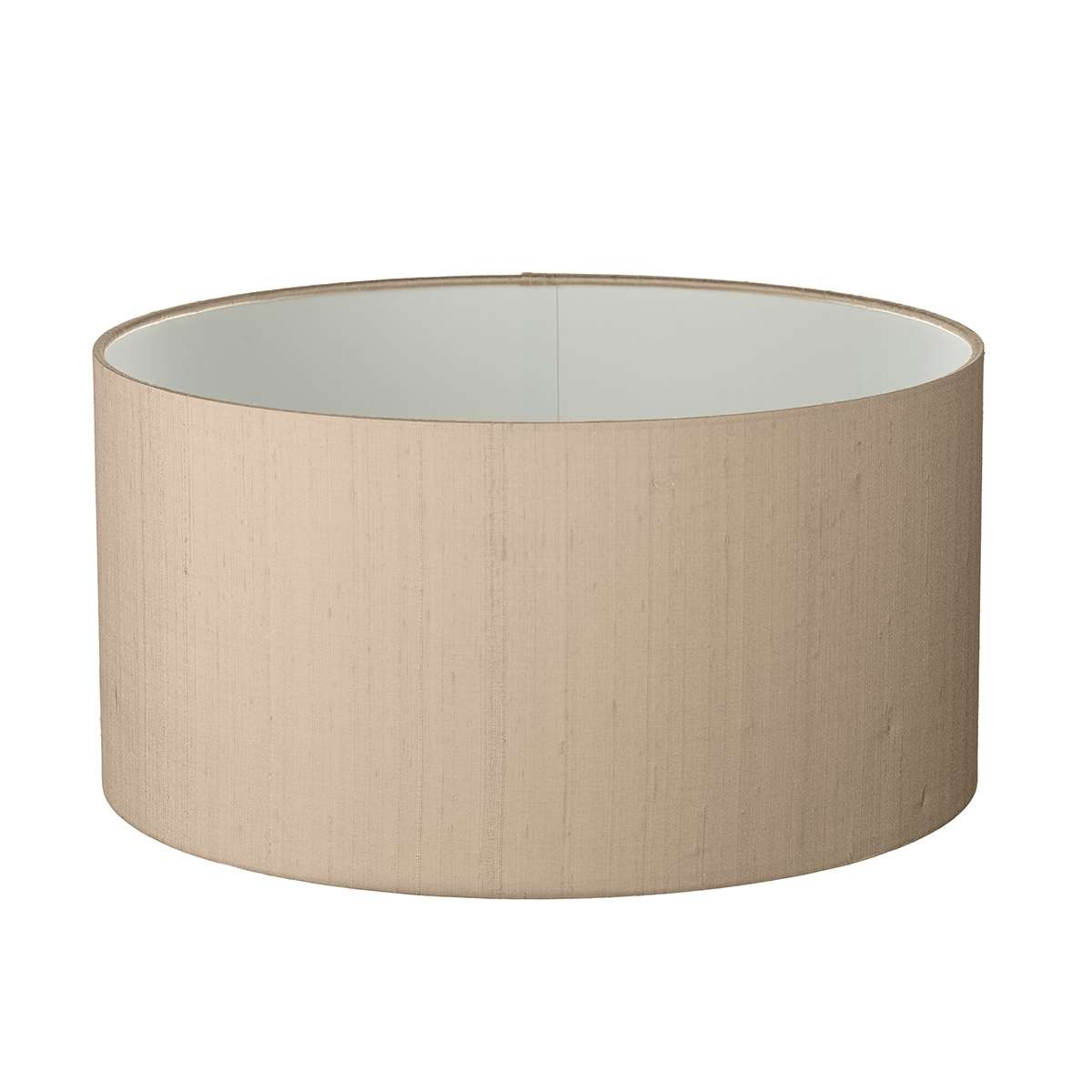 Drum Shallow 20cm 100% Silk Shade with Shade Colour Options