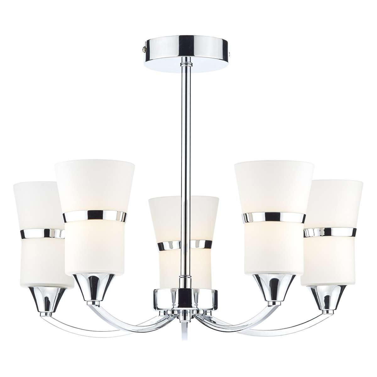 Dublin 5 Light Semi Flush Polished Chrome Led