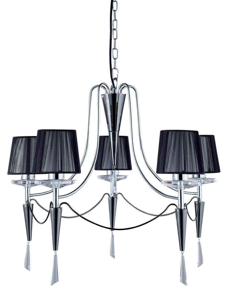 Duchess 5-Light Polished Chrome And Crystal Fitting