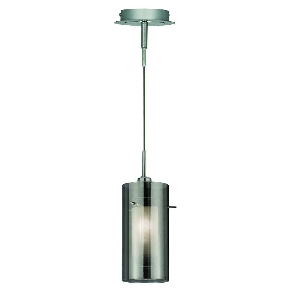 Duo 2 1 Light Pendant With Smokey Outer Frosted Inner Glass Shades