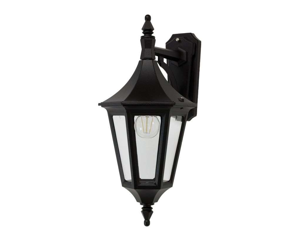 Duran Medium 6-Sided Downturned Wall Lantern | Online Lighting Shop