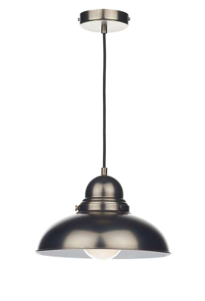 Dynamo 1-Light Antique Chrome Pendant