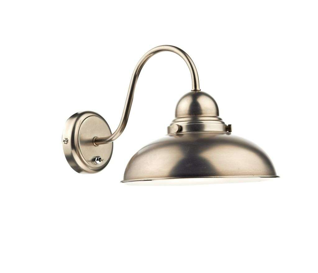 Dynamo 1-Light Antique Chrome Wall Bracket