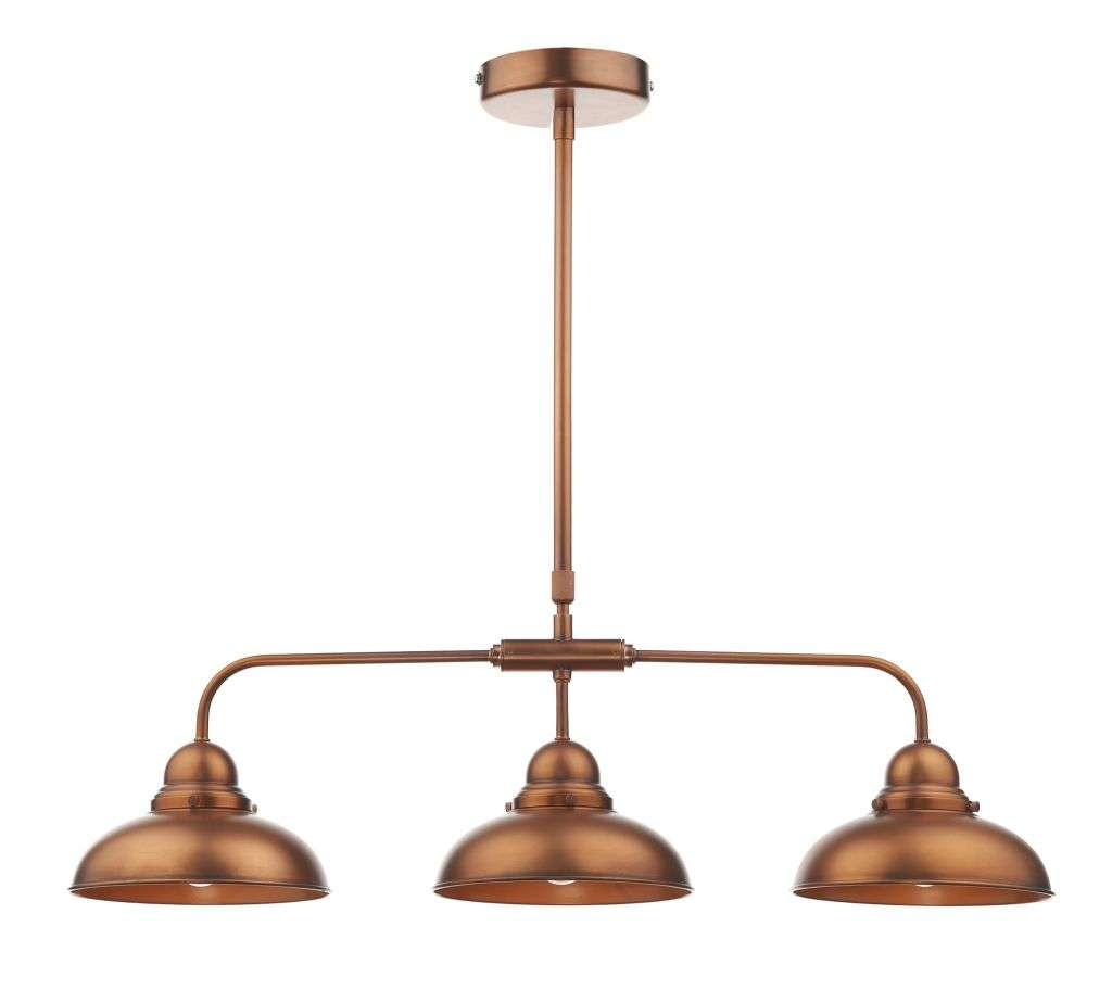 Dynamo 3-Light Antique Copper Bar Pendant