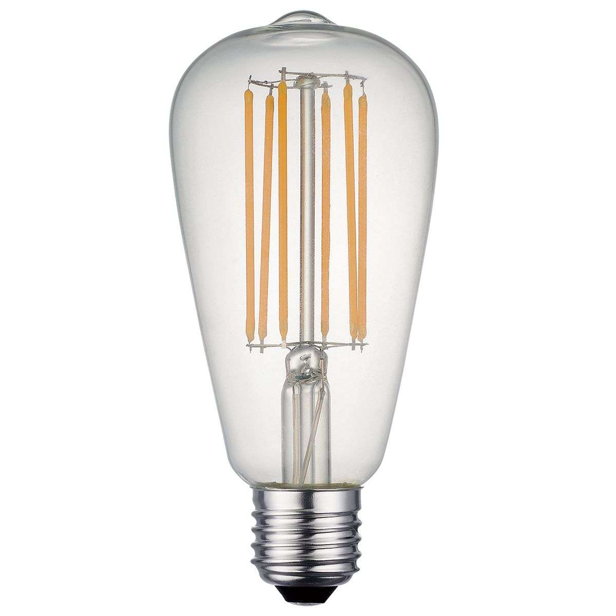 E27 LED Dimmable Rustic Filament Lamp 7W 850 Lumens Clear