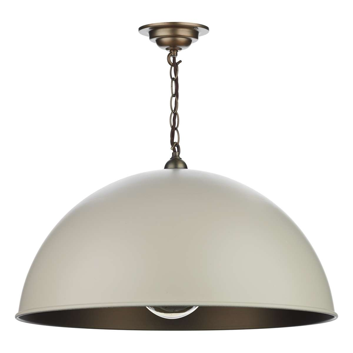 Ealing Large Pendant in Cotswold Cream
