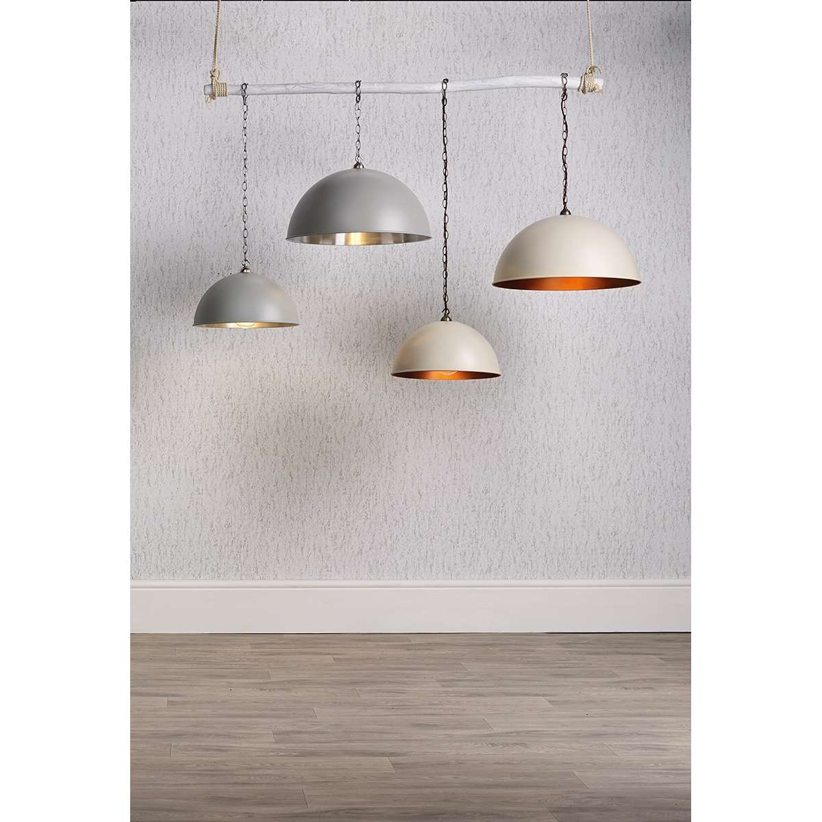 Ealing Large Pendant in Powder Grey