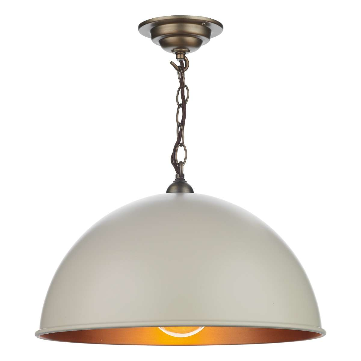 Ealing Small Pendant in Cotswold Cream