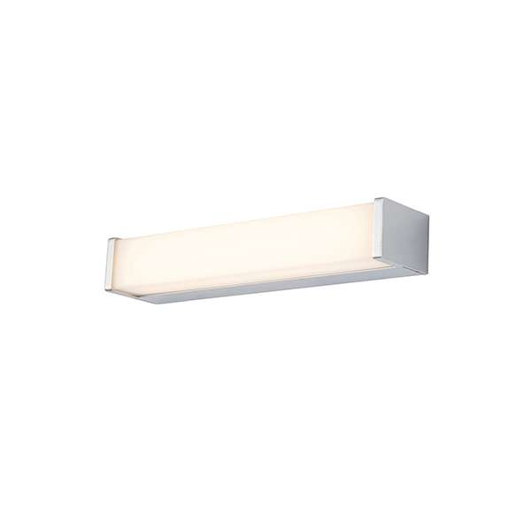 Edge Chrome Wall Light with White Polycarbonate Shade Dia:300mm