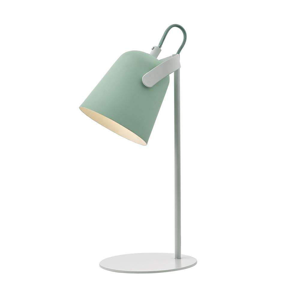 Effie Table Lamp Pale Green and White