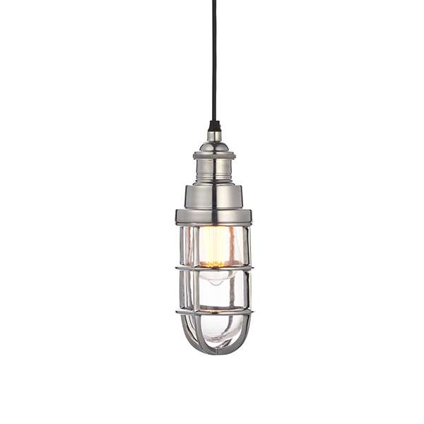 Elcot Pendant in Polished Aluminium Finish
