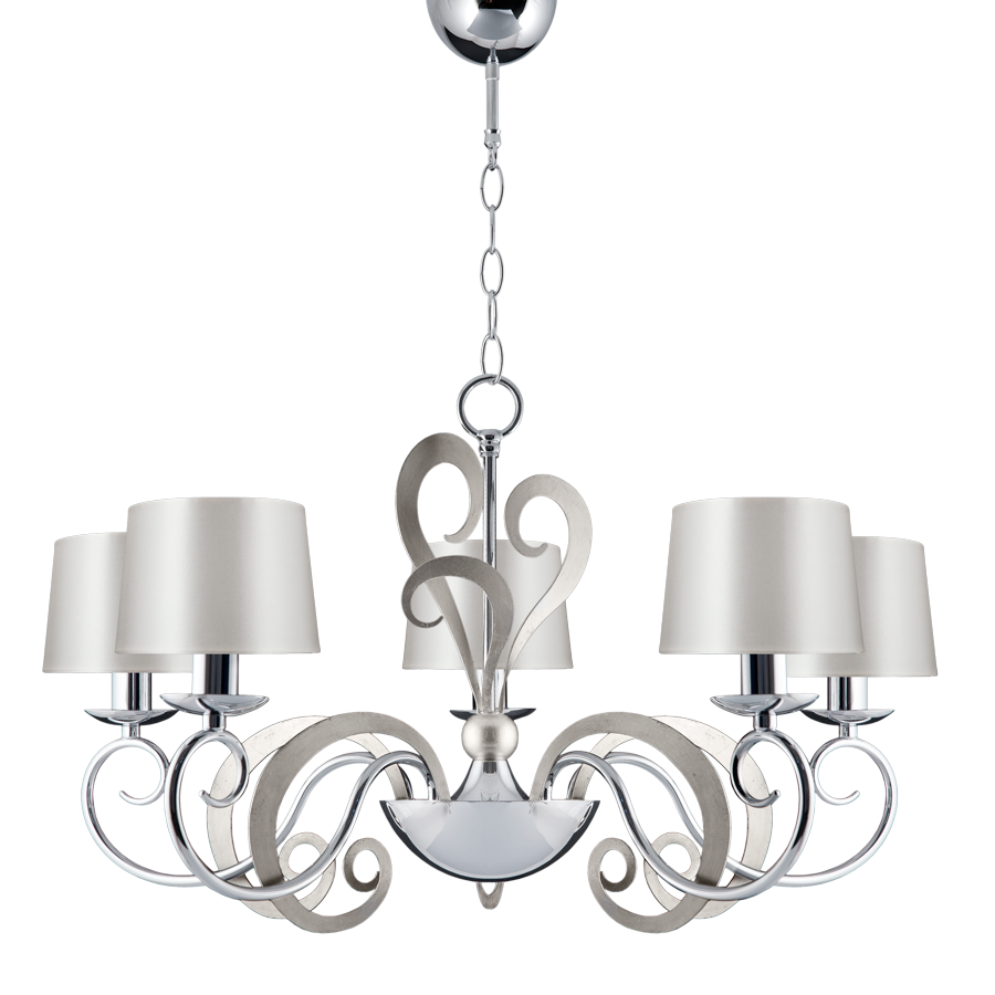 Eleonor 5 Light 2 tone Chrome Ceiling Light | Online Lighting Shop