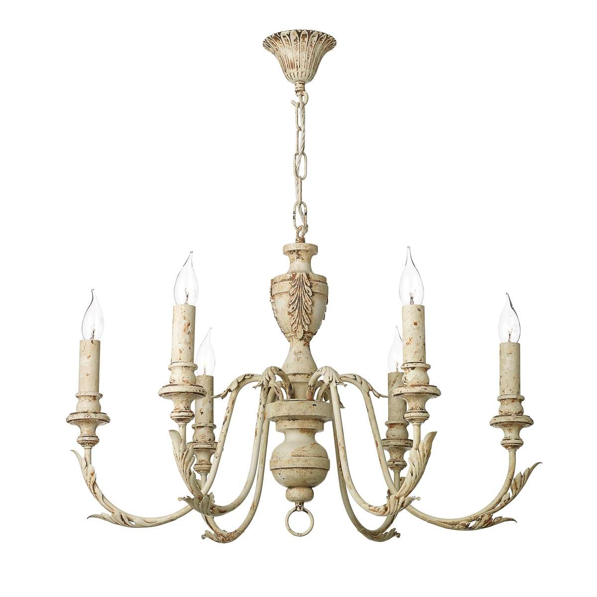 Emile 6 Light Pendant Rustic French