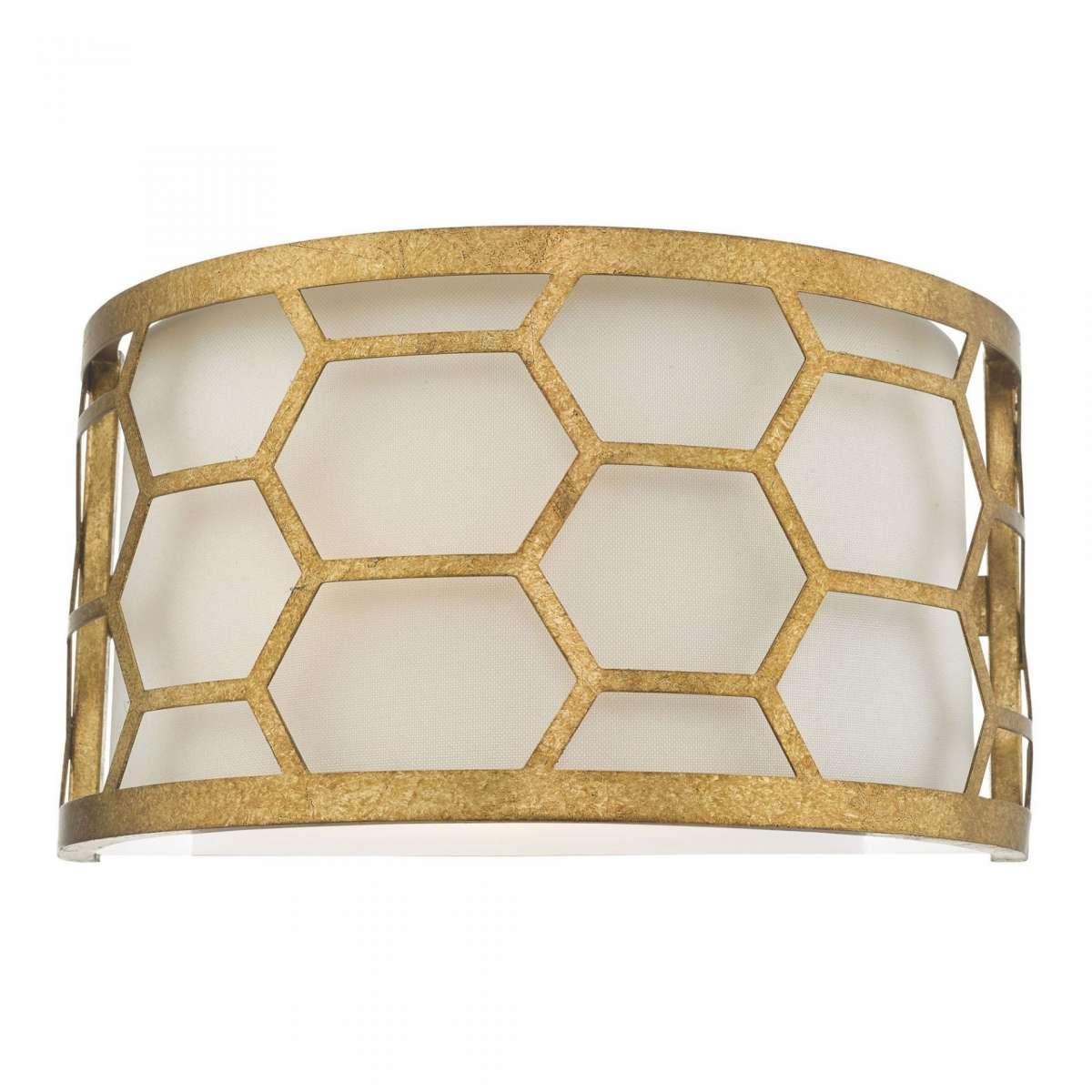 Epstein 1 Light Wall Light Gold & Ivory