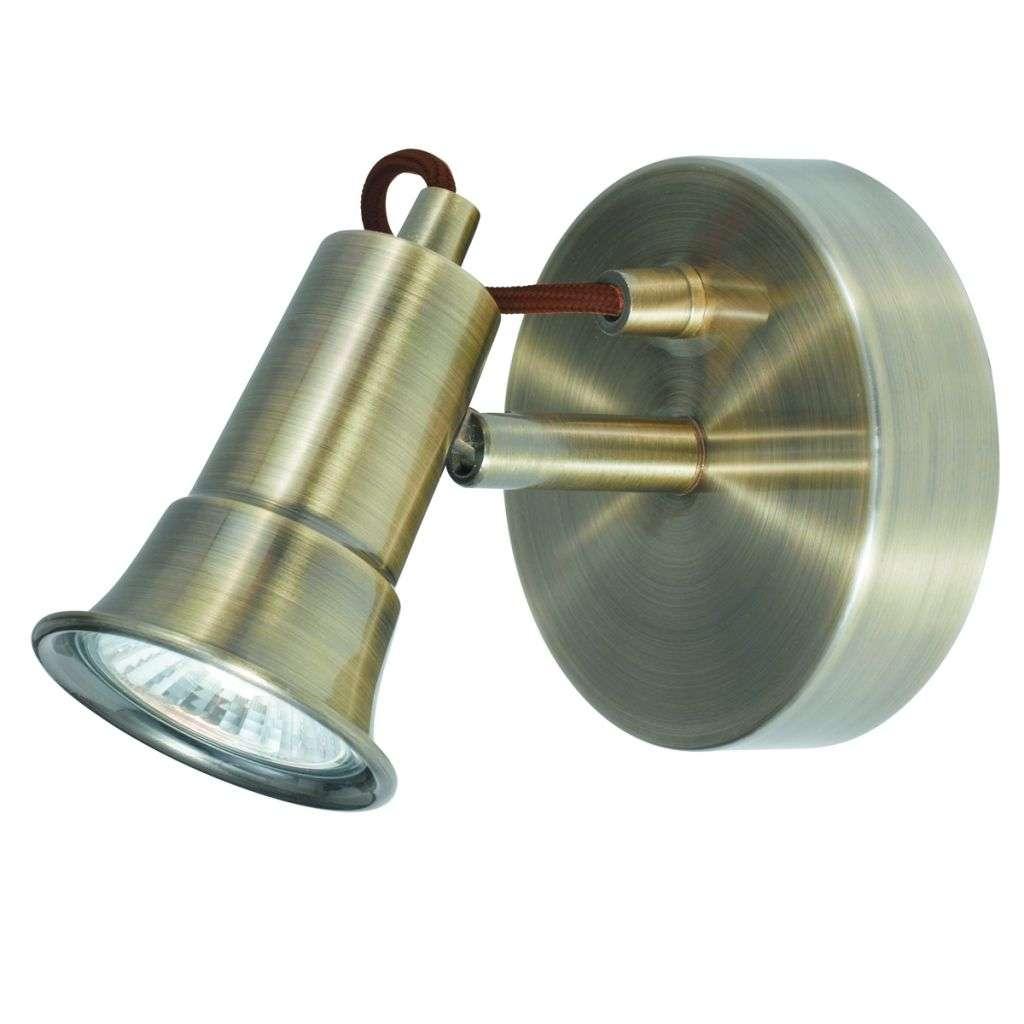 Eros  1 Light Antique Brass Spotlight Wallbracket Gu10