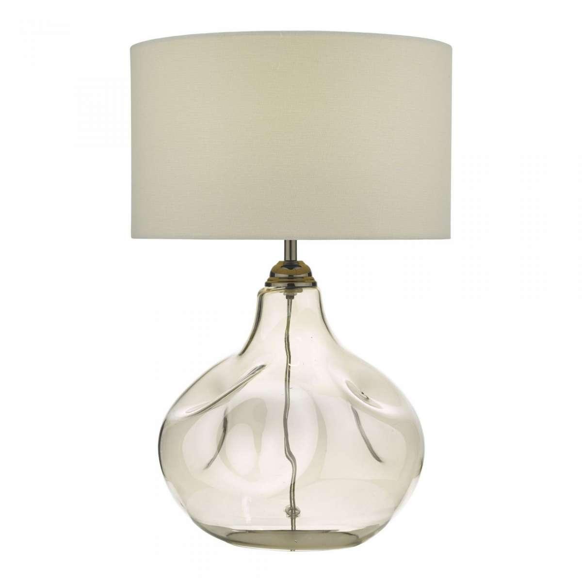 Esarosa Table Lamp Smoked Glass With Shade