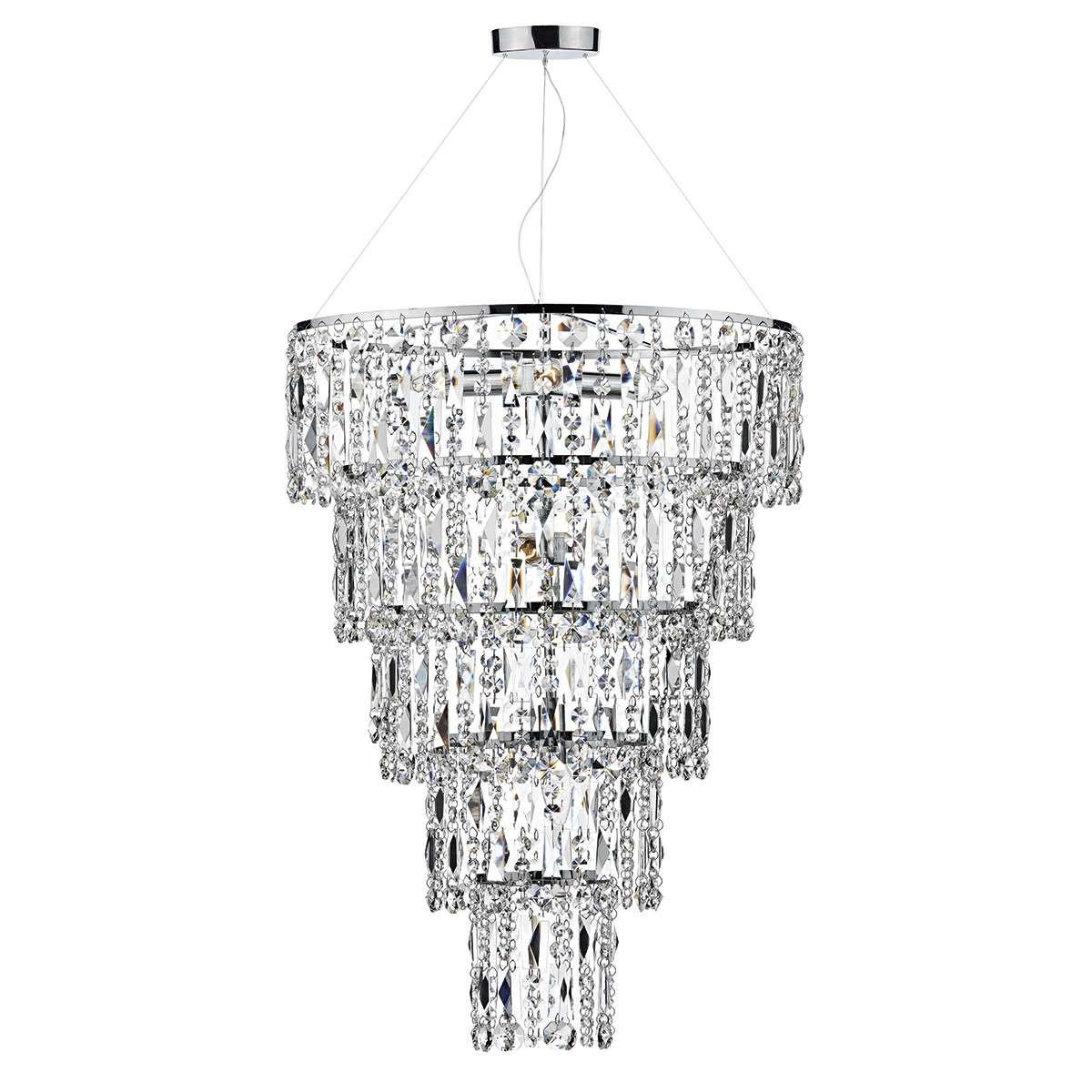 Escala 6 Light Round Crystal Pendant