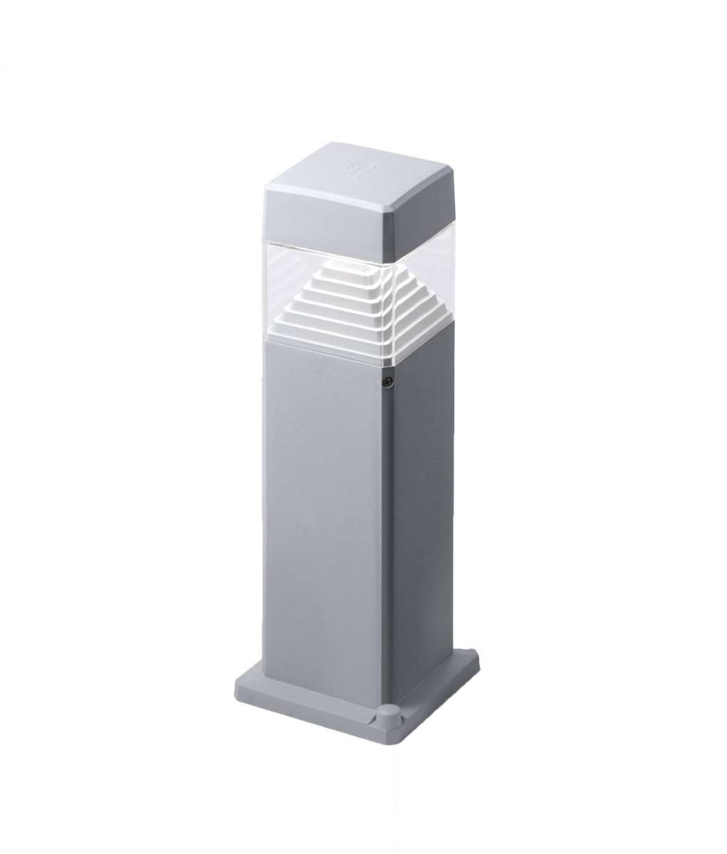 Ester 500mm Grey Clear LED 7W GX53 Bollard Post Light