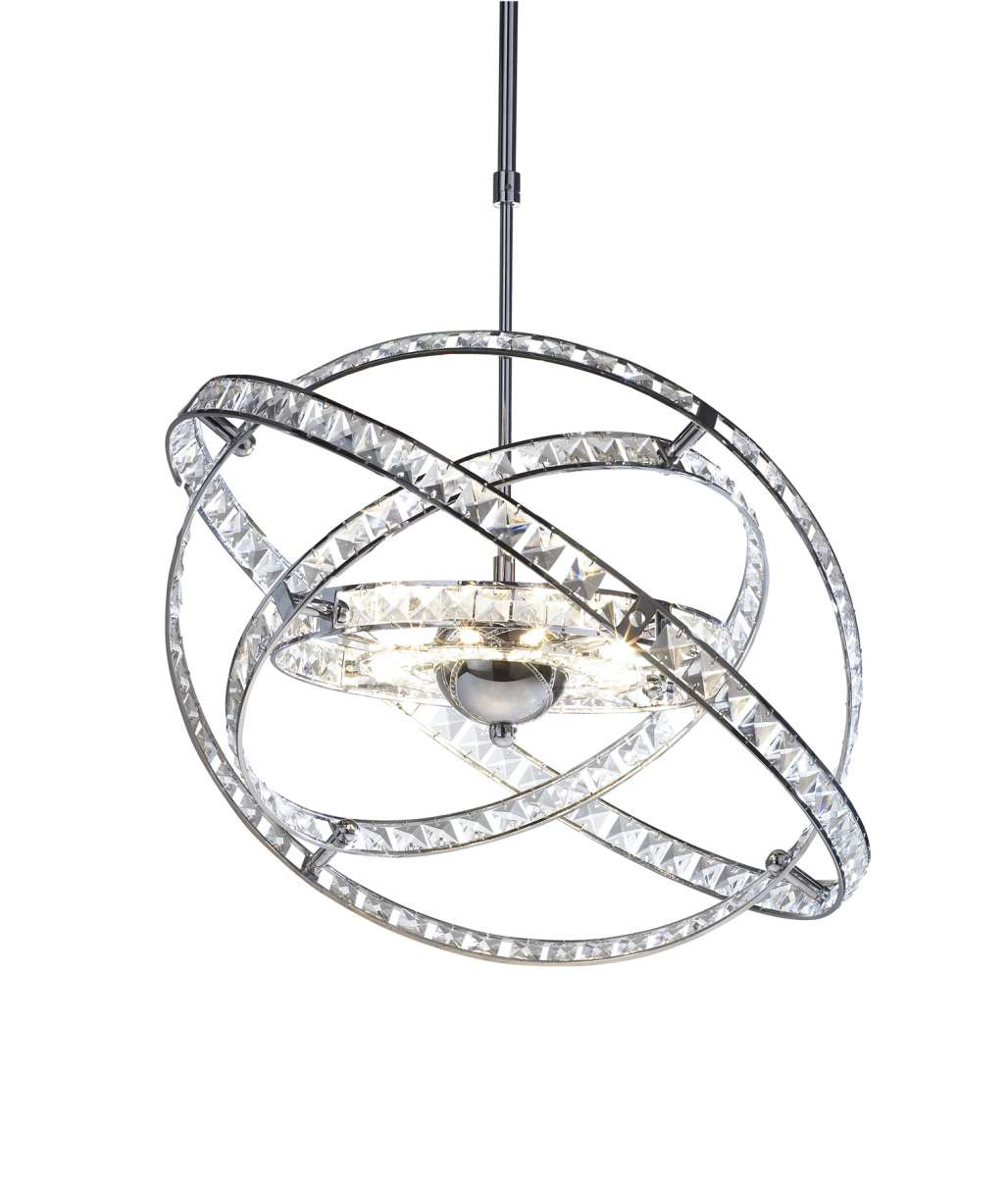 Eternity 10-Light Polished Chrome And Crystal Fitting