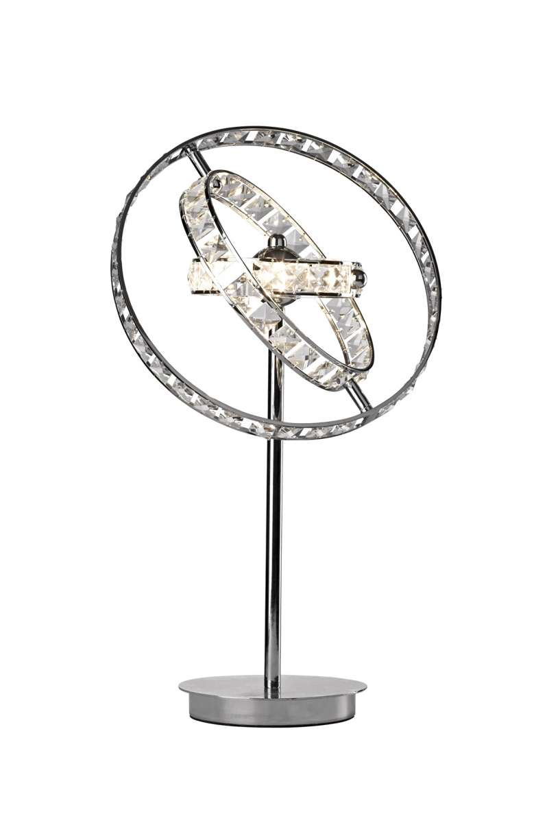 Eternity 4-Light Polished Chrome And Crystal Table Lamp