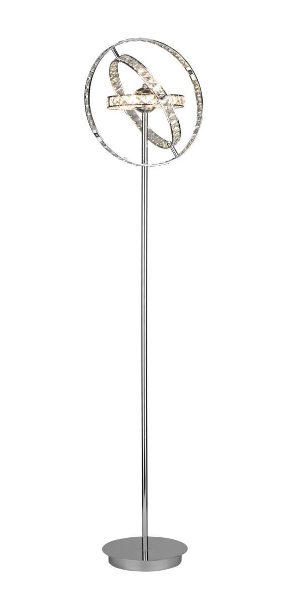 Eternity 6-Light Polished Chrome And Crystal Floor Lamp