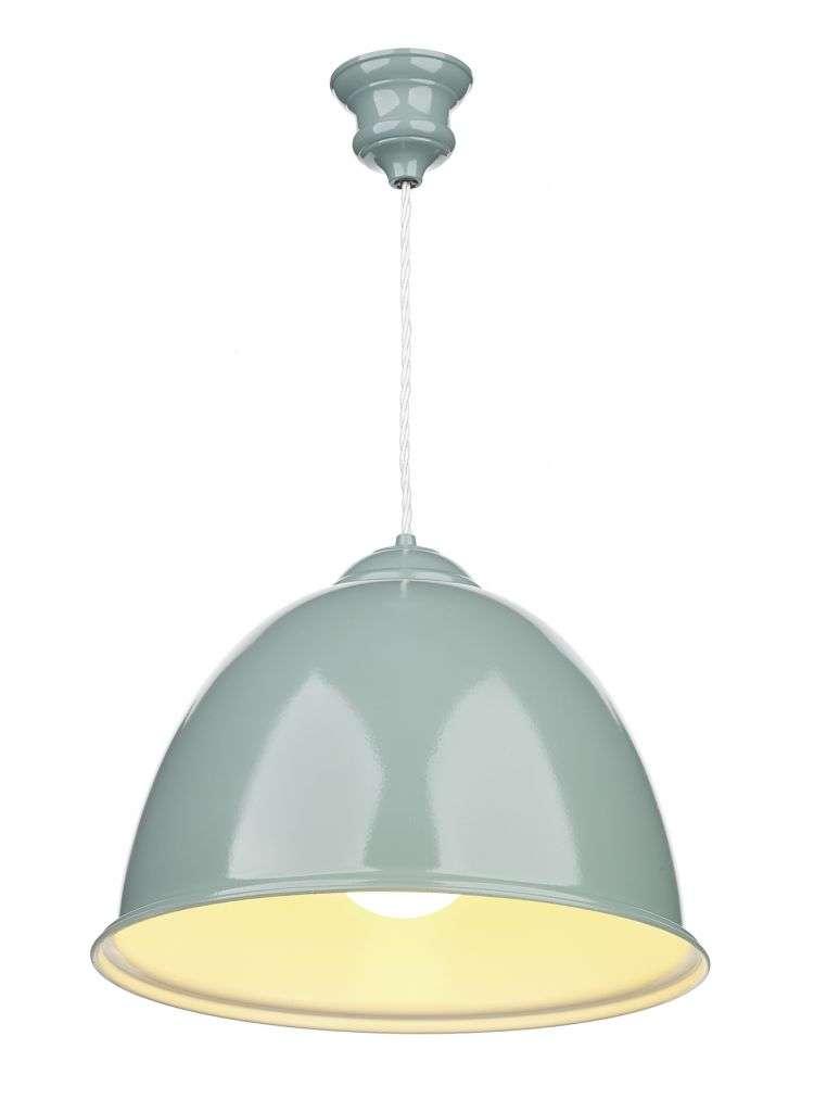 Euston 1-Light Blue Verditer/White Pendant