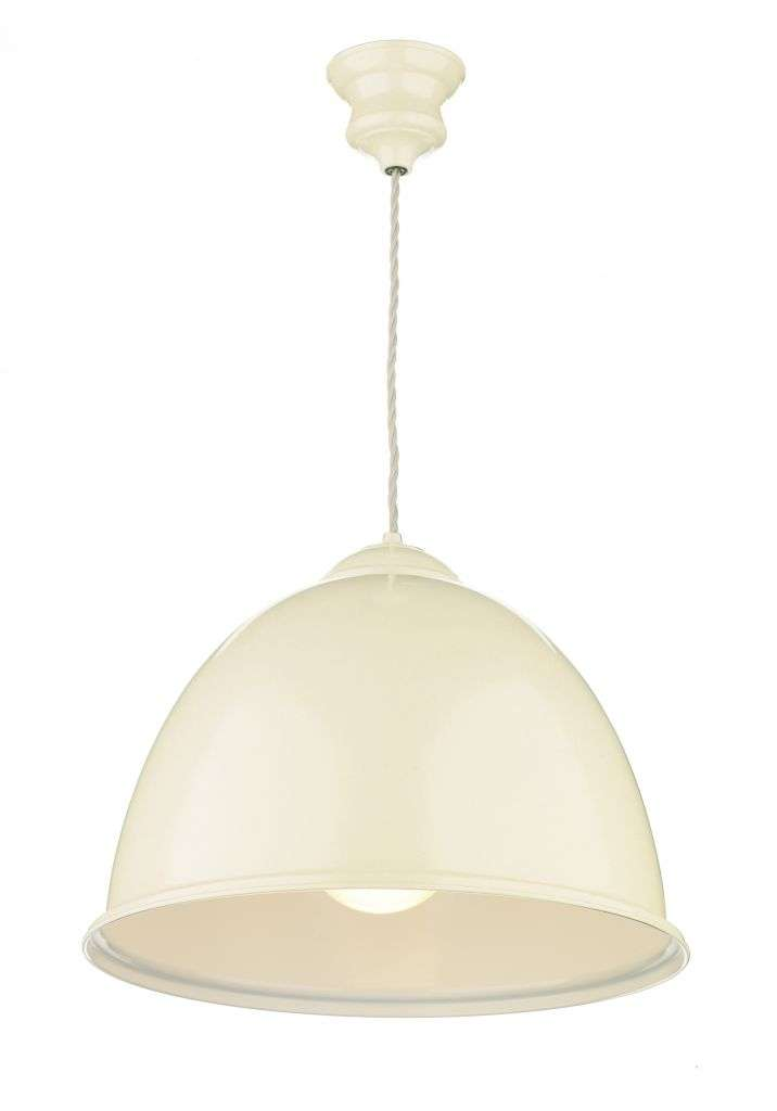 Euston 1-Light Cream/White Pendant