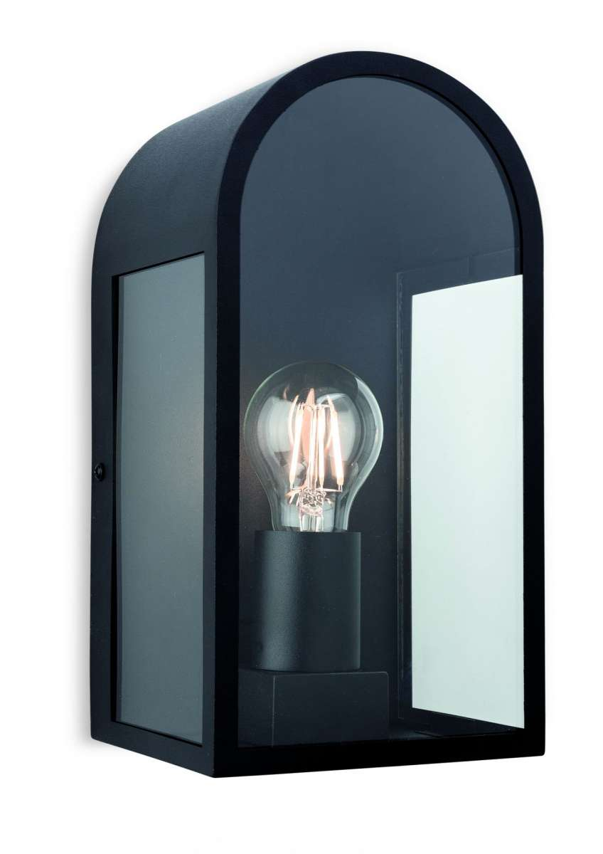 Eva Outdoor Wall Light in Black Finish