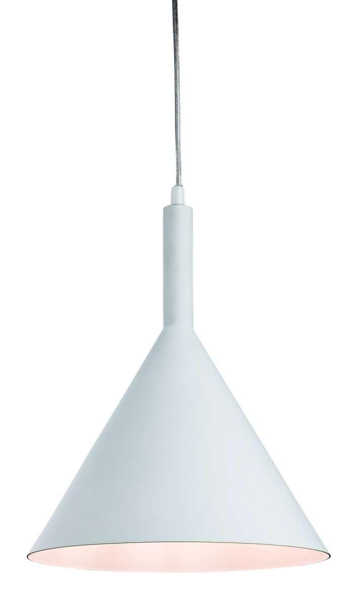Everest Pendant in White Finish with White Inner