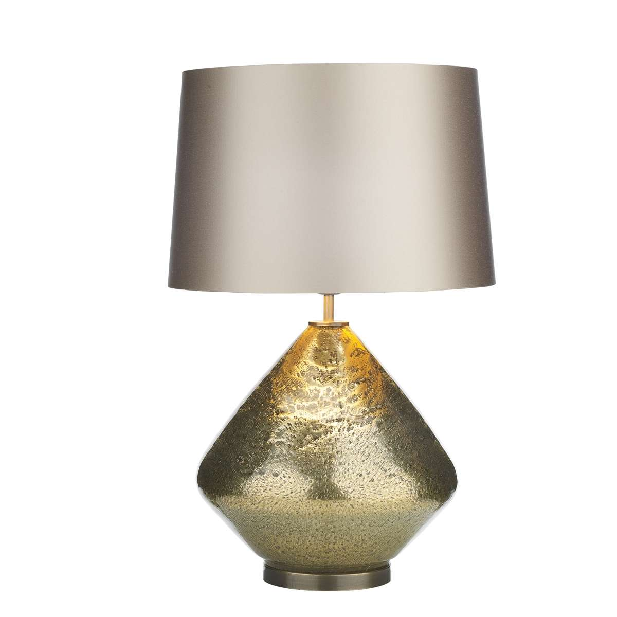 Evora Volanic Effect Gold Table Lamp