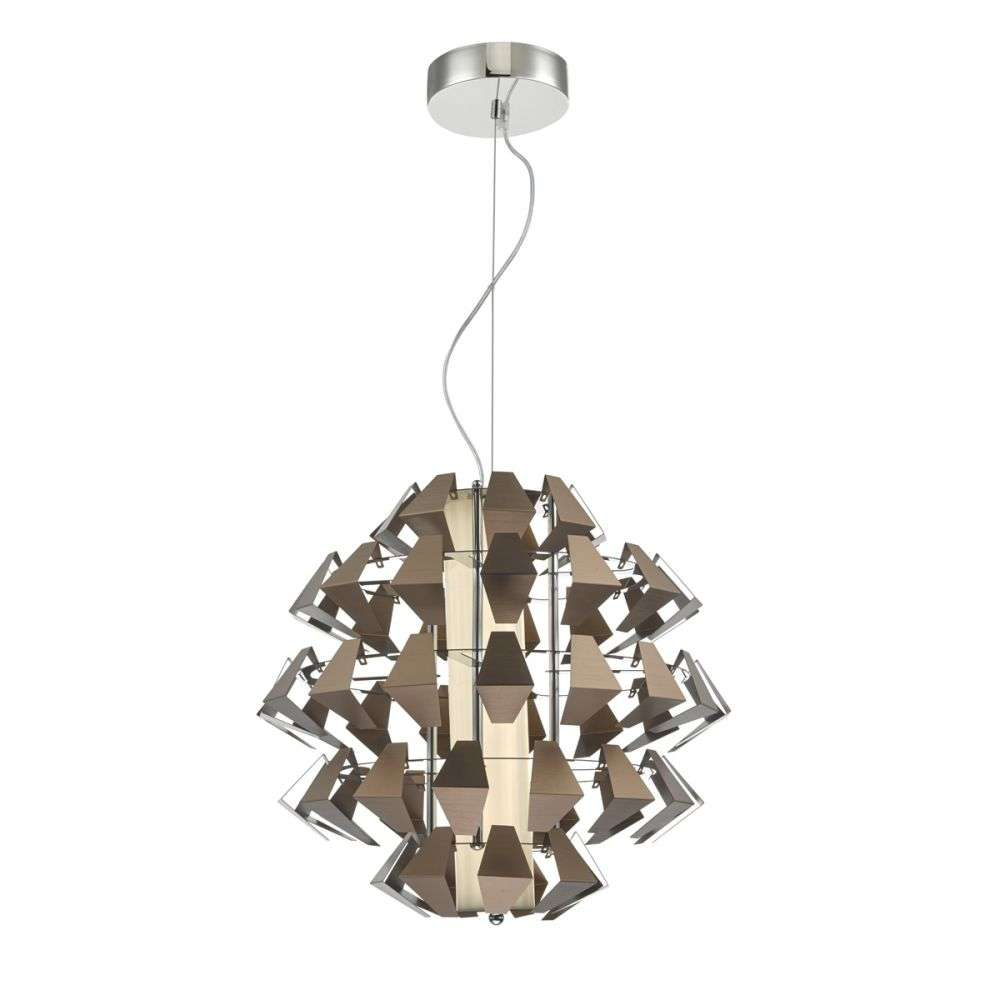 Falcon 1 Light Pendant Suspension Bronze 35w LED