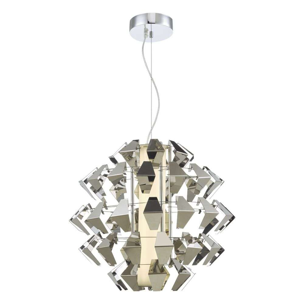 Falcon 1 Light Pendant Suspension Chrome 35w LED