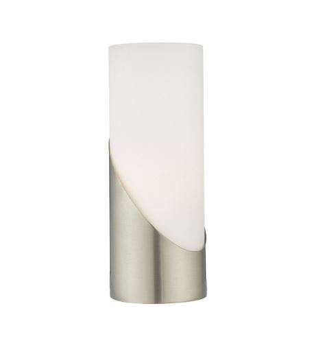 Faris Table Lamp Touch Satin Nickel