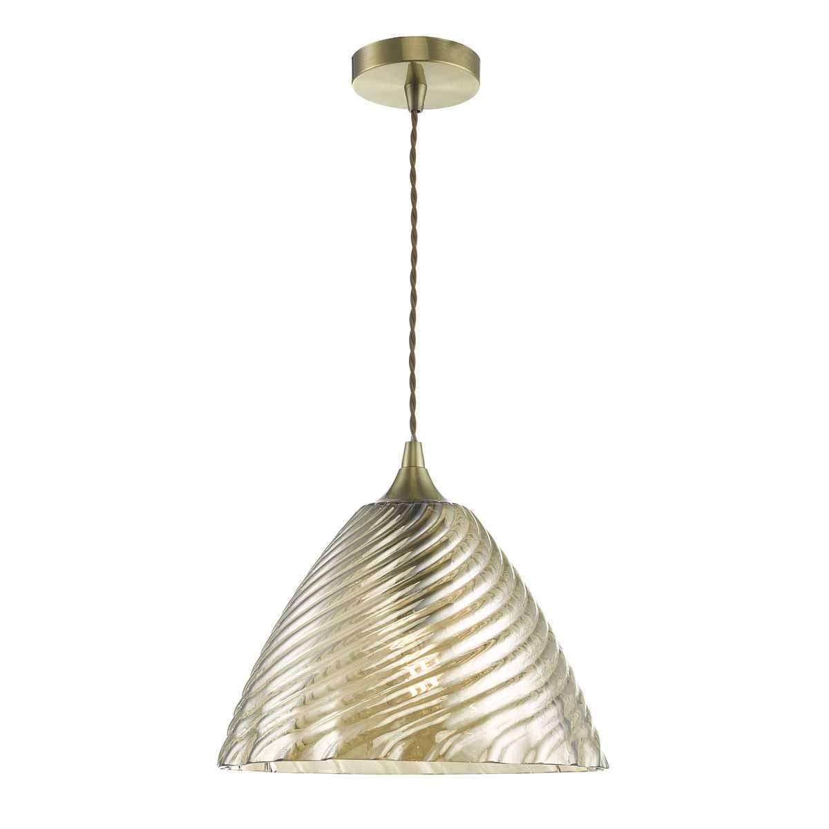 Faye 1lt Pendant Antique Brass & Champagne Gold