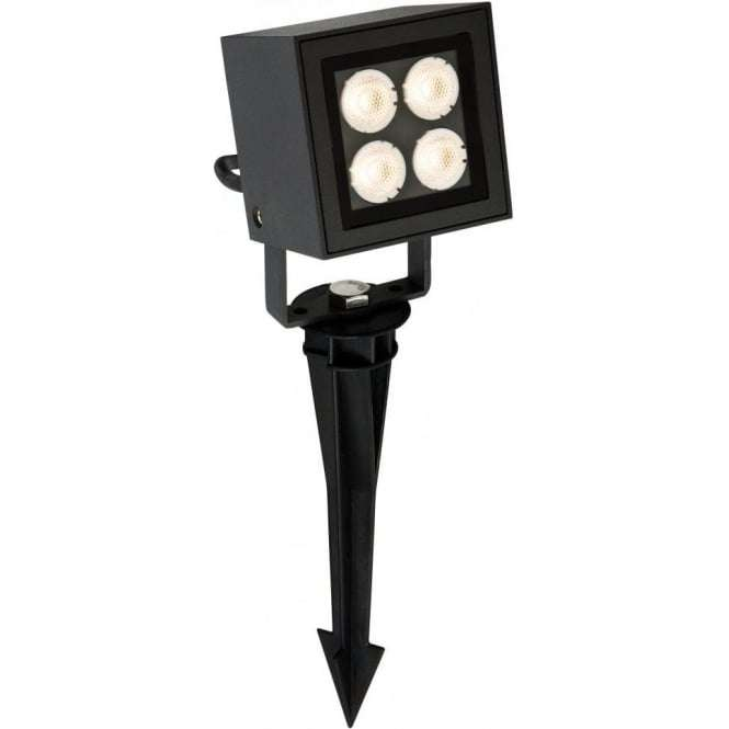 Firstlight 4lt LED Wall and Ground Outdoor Spotlight in Graphite Grey