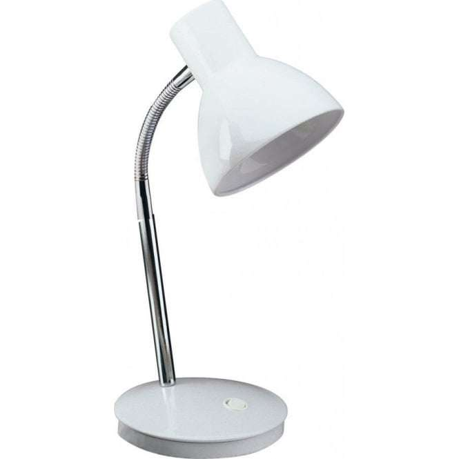 Firstlight Harvard Single Light Table Lamp in a White Finish