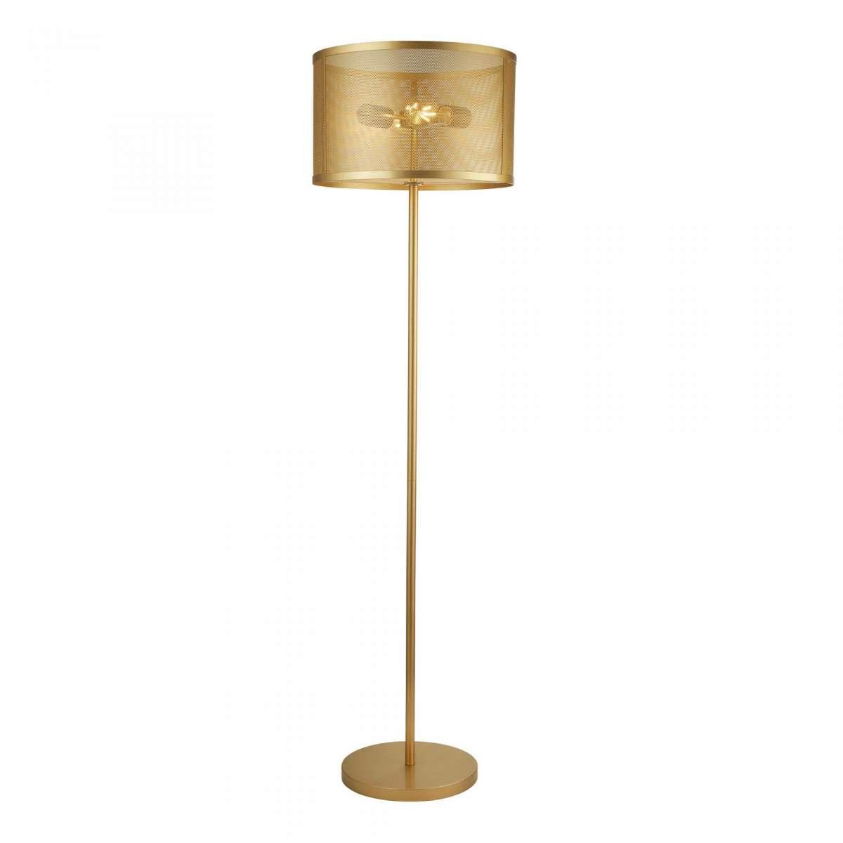 Fishnet 2 Light Floor Lamp Matt Gold