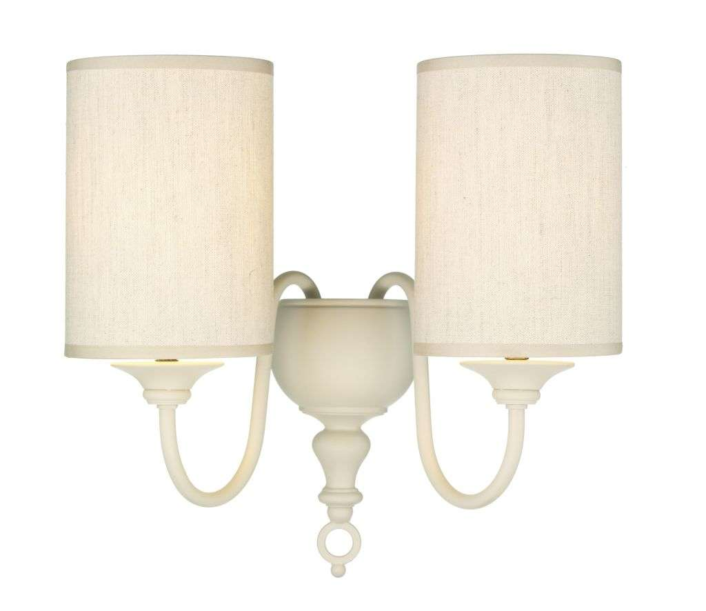 Flemish 2-Light Cream Wall Bracket With Shades