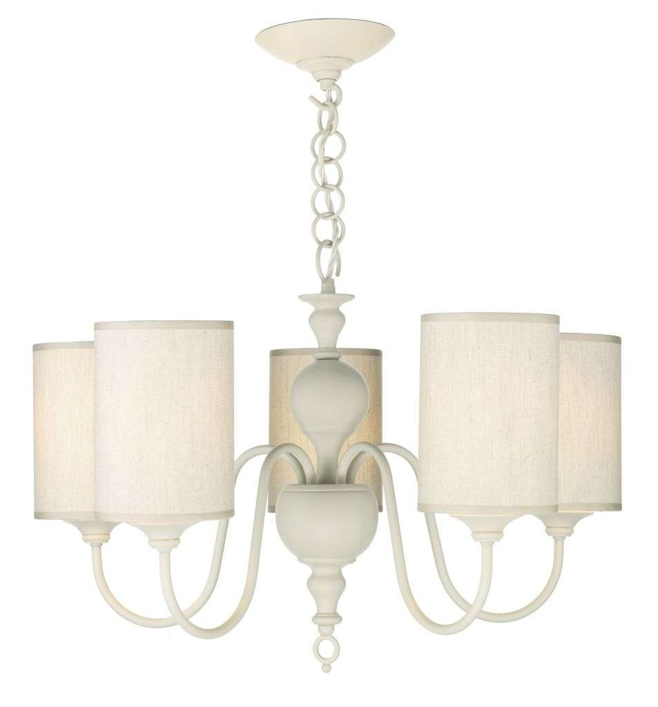 Flemish 5-Light Cream Fitting With Shades